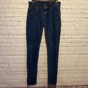 Hudson Midrise Blue Jeans size 29 Collin Skinny